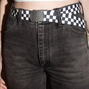 brandy melville checkered belt